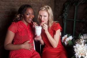 Angelica & Petra sip on milkshakes
