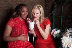 Angelica & Petra sip on milkshakes
