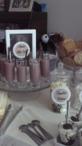 Chocolate Milk Shots with Mikado biscuit straws...alcohol free loveliness