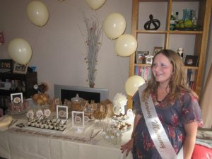 Ruth at her Cookies and Cream baby shower