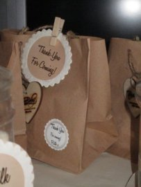 Brown paper bags - perfect for filling with leftover cookies