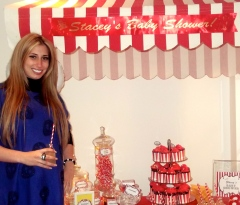 Stacey Solomon kept baby's gender under wraps with our Girls Playground shower