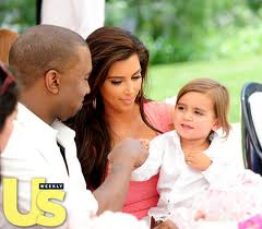 Kanye West, Kim Kardashian And Baby Mason At Kourtneyu0027s Second Baby Shower
