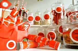 Christmas baby shower party
