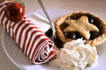 Vanilla cream & minced pies!