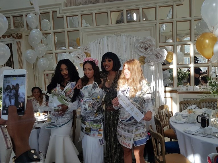 Irene and her guests at the #babyshower